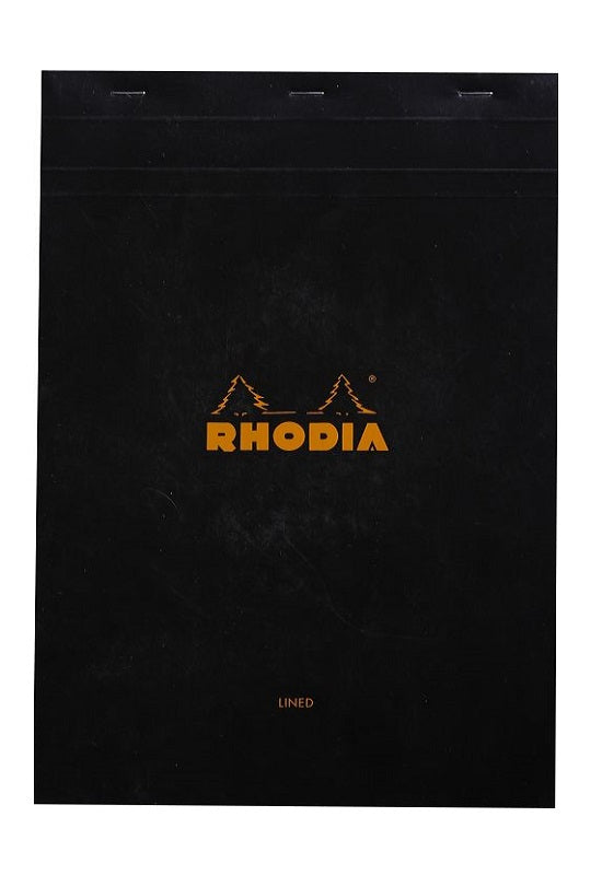 RHODIA Bloc N18 21x29.7cm Lined with Margin Black #186009C