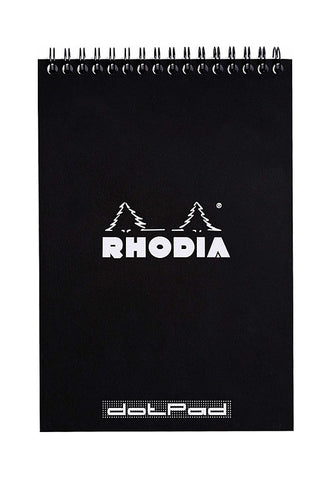 RHODIA Bloc Wirebound N16 Dot Black #165039C
