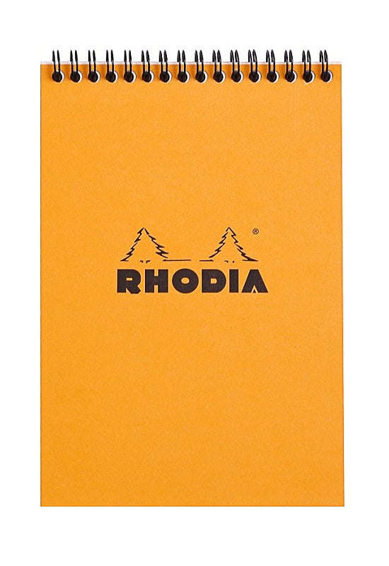 RHODIA Bloc Wirebound N16 Lined Orange #16501C