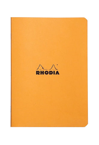 RHODIA Staplebound 14.8x21cm Lined Orange #119188C