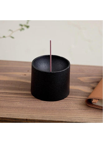 METAPHYS 25061 quolo Incense Holder Cylinder - Black