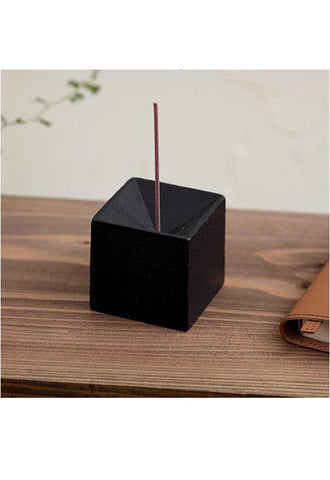METAPHYS 25060 quolo Incense Holder  Square - Black