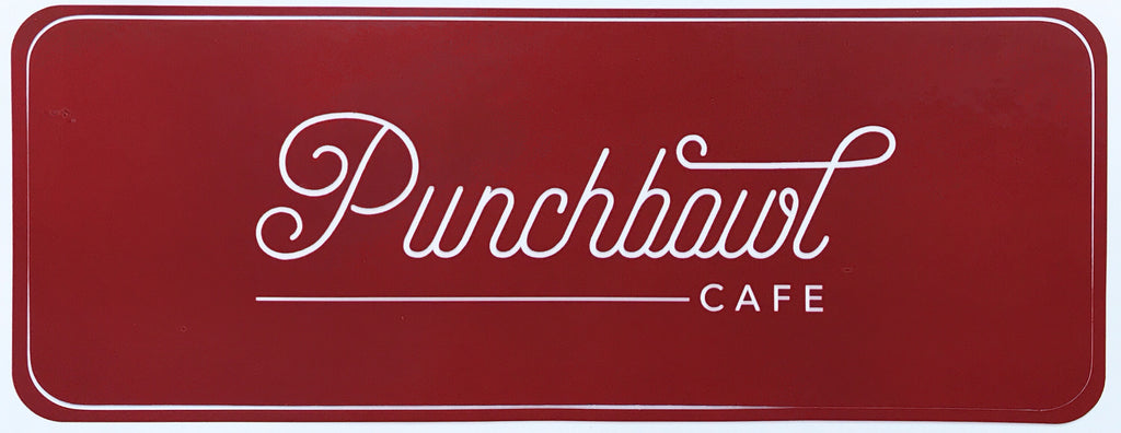 Punchbowl Vinyl Decal Large Set of 2