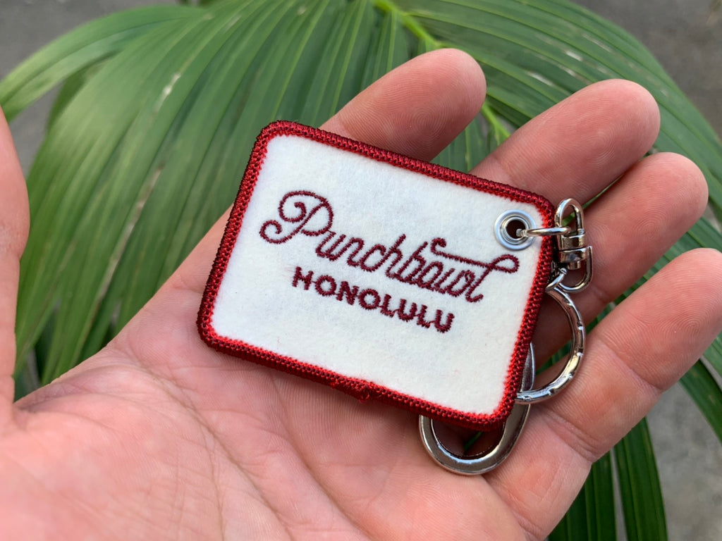 Original Punchbowl Crusin' In Paradise  Keychain