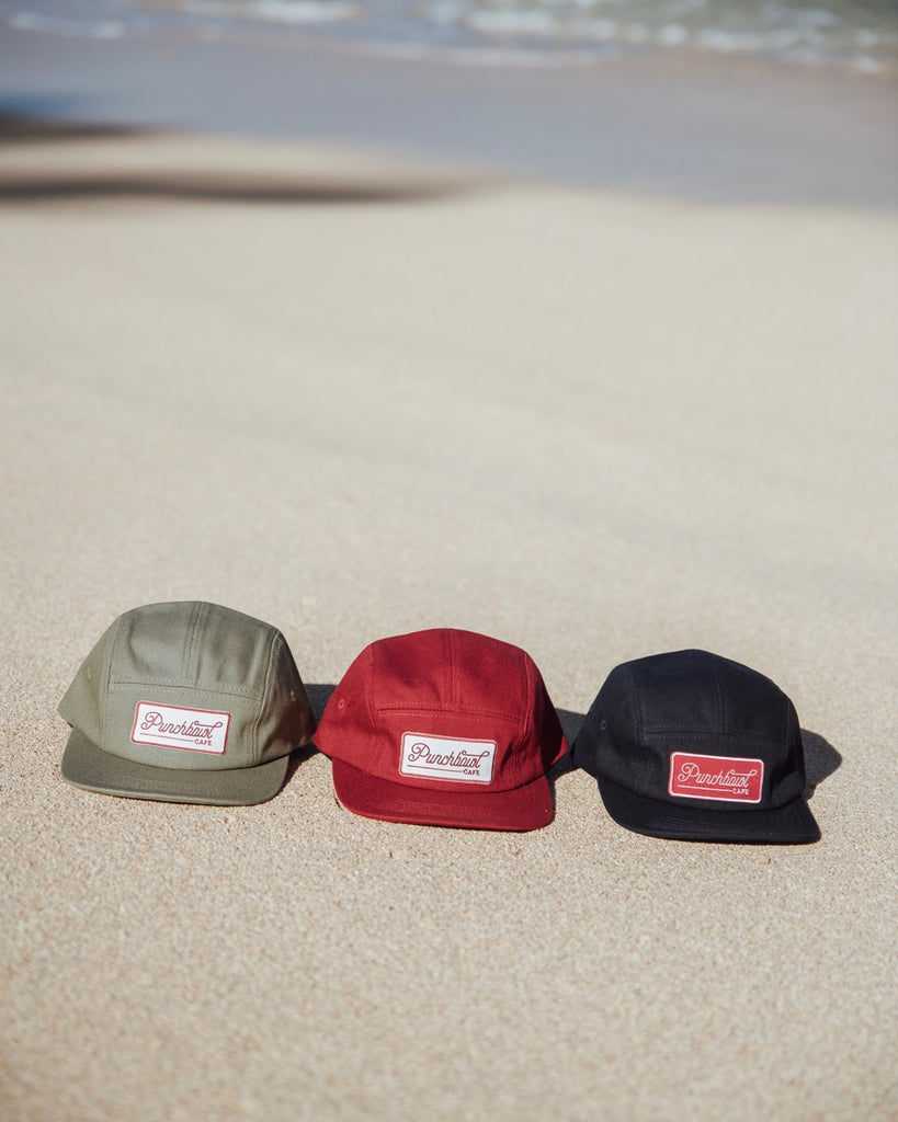 5 Panel Hat Punchbowl Red