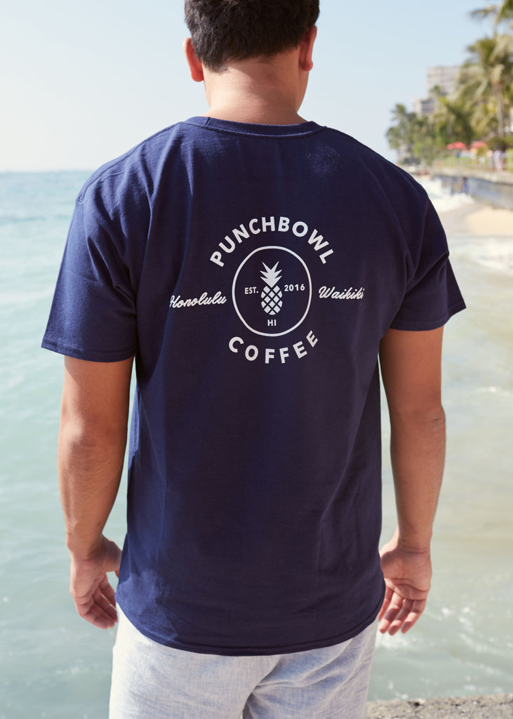 Punchbowl Pineapple Logo T Navy