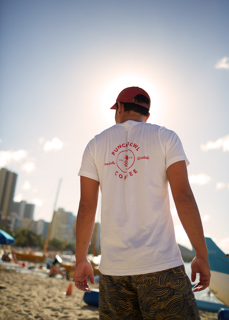 Punchbowl Pineapple Logo T White
