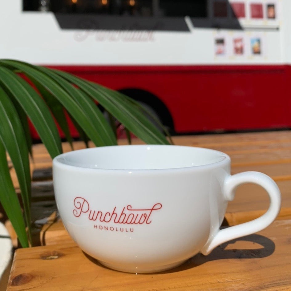 Punchbowl Coffee Cup 8oz Special Holiday Edition