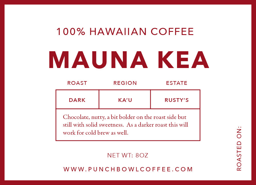 Mauna Kea  Dark Roast  100% Hawaii Coffee