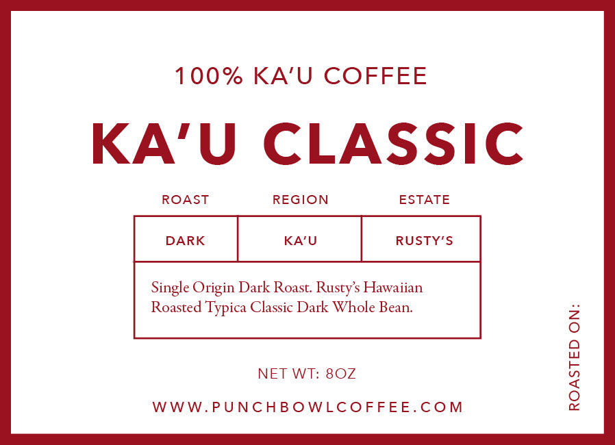 Ka'u Classic Dark Roast Single Estate