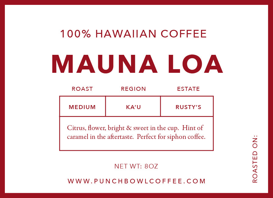 Mauna Loa Medium Roast 100% Pure Hawaii Coffee