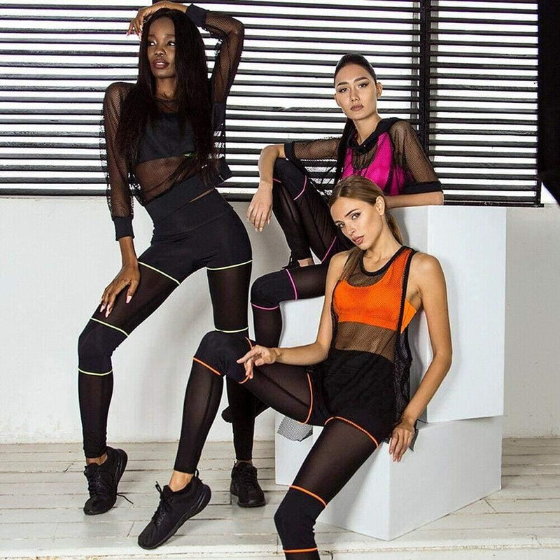 The Best 2 Piece Set Sportwear Women Fitness Yoga Sports Trousers Bra Stretch Workout Crop Top Vest Casual Outfits Clothes Set Online - Hplify