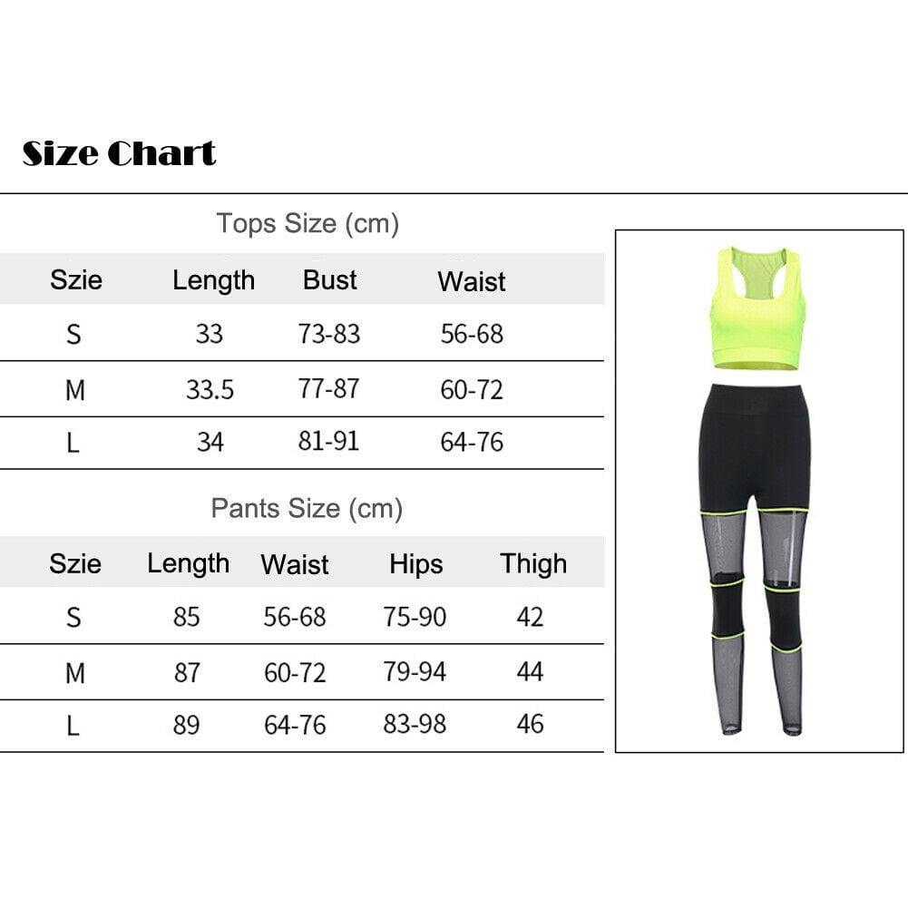 The Best 2 Piece Set Sportwear Women Fitness Yoga Sports Trousers Bra Stretch Workout Crop Top Vest Casual Outfits Clothes Set Online - Source Silk