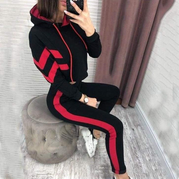 The Best 2 Piece Set Women Hoodies Pant Clothing Set Warm Newest Clothes Ladies Solid Tracksuit Women Set Top Pants Suit Female Online - Hplify