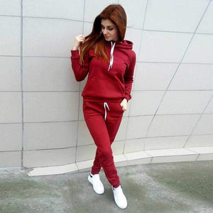 Buy Cheap 2 Pieces Suit Women Autumn Winter Hoodies Sweatshirt + Pant Sportwear Solid Pocket Tracksuit Set Casual Sweat Suit Jogging Set Online - Hplify
