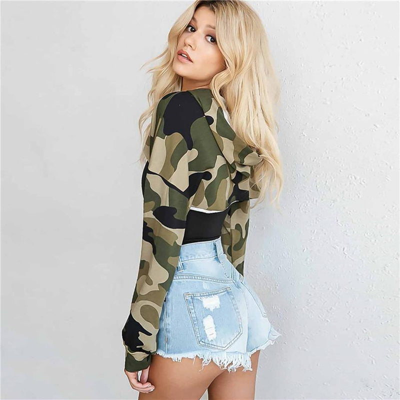 The Best 2018 Autumn cutout cropped hoodies Women front open hip hop street sweatshirts femme hoody punk streetwear Fashion crop tops Online - Hplify