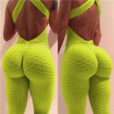 The Best 2018 New sexy full bandage sporting bodysuit Sleeveless solid jumpsuit and romper Summer bodycon overalls fitness jumpsuits Online - Hplify