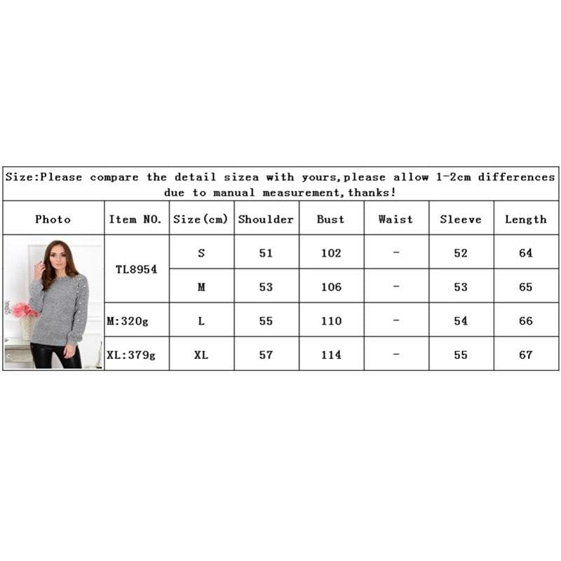 The Best 2019 Autumn Women Half-high Collar Knitted Beading Sweater Loose Jumper Ladies Winter Warm Basic Pullover Tops Online - Hplify