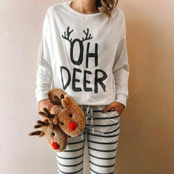 The Best 2019 Christmas Costume Women Long Sleeve Baggy Casual Blouse Shirt Ladies Autumn Winter Tunic Tops Tee Shirt Online - Hplify
