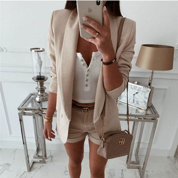 The Best 2019 Fashion Coat Women Autumn Winter Top Long Sleeve Office Lady Blazer Elegant vintage OL korean Blazer Streetwear Online - Hplify