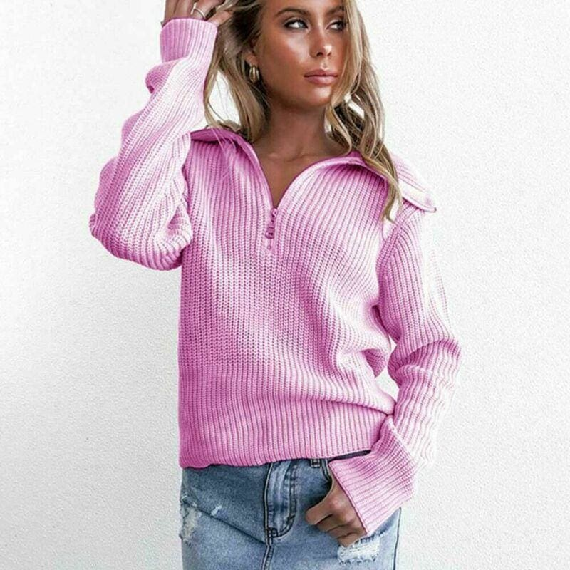The Best 2019 Fashion Women Casual Knitted Sweatshirt Elegant Autumn Winter Ladies Tops Loose Pullover harajuku Hoodies Plain Streetwear Online - Source Silk