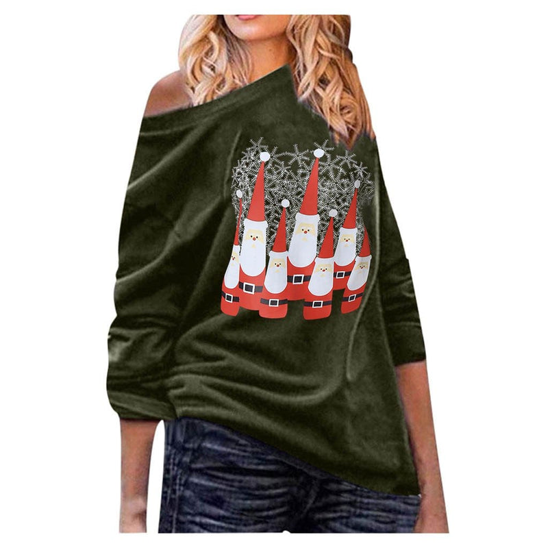The Best 2019 Fashion Women Christmas Tree Tops Ladies Long Sleeve Casual Xmas Baggy O Neck Pullover Blouse Shirt Online - Hplify