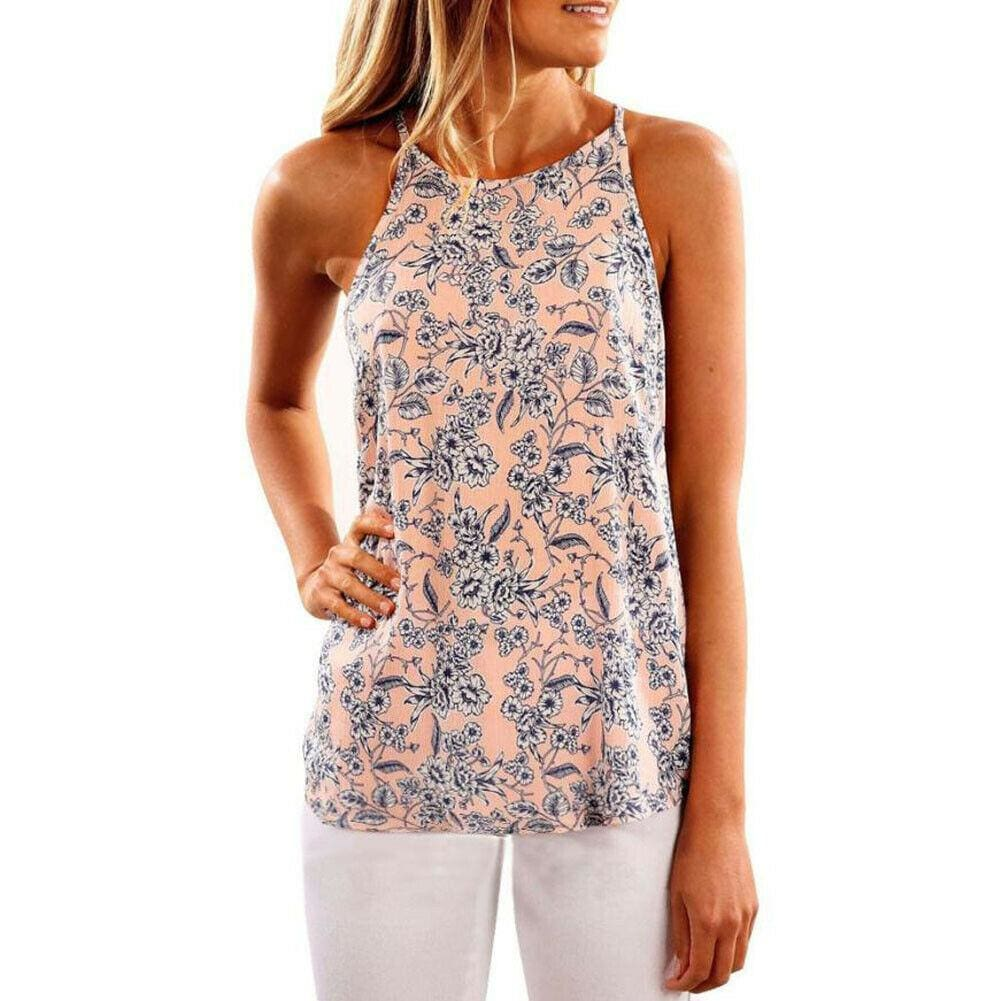 Buy Cheap 2019 Fashion Women Strappy Blouse Sleeveless Summer Ladies Casual Boho Floral Vest Shirt Tank Top Women Camisole Online - Hplify
