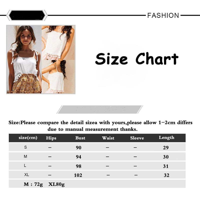 The Best 2019 Fashion Women Summer Tassel Vest Tops Sleeveless Blouse Casual Camis Tank Tops Femme Casual Vest Online - Hplify
