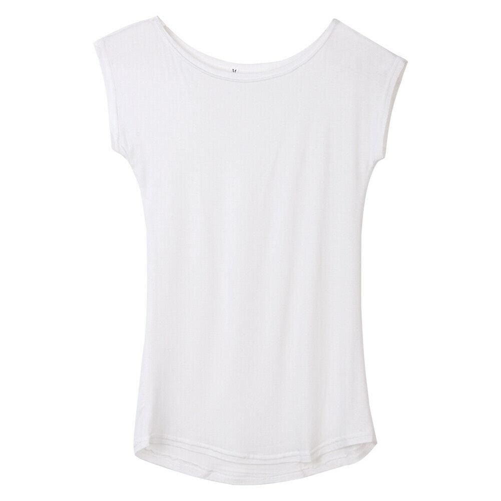 The Best 2019 Girls Women's Neck Sleeveless Long T-Shirts Modal Tops Basic Solid White Black Blue Gray Tee Shirt Hot Online - Source Silk