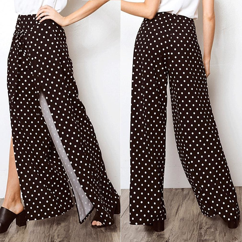 The Best 2019 New Fashion Women Boho Floral Flare Long Pants Palazzo Baggy Wide Leg Summer Casual Trousers Loose Culottes Online - Hplify