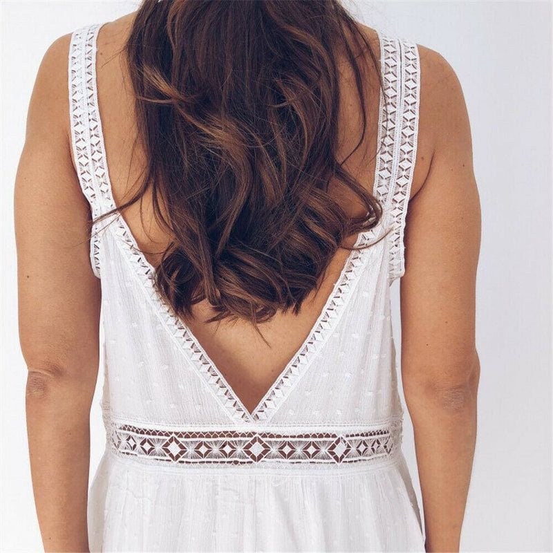The Best 2019 New Fashion Women Summer Sleeveless Casual Loose Sundress Tops Mini Jumper Dress Beach Holiday Sundress Online - Hplify
