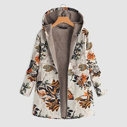 The Best Floral Printed Plus Sizes Warm Coats Online - Hplify