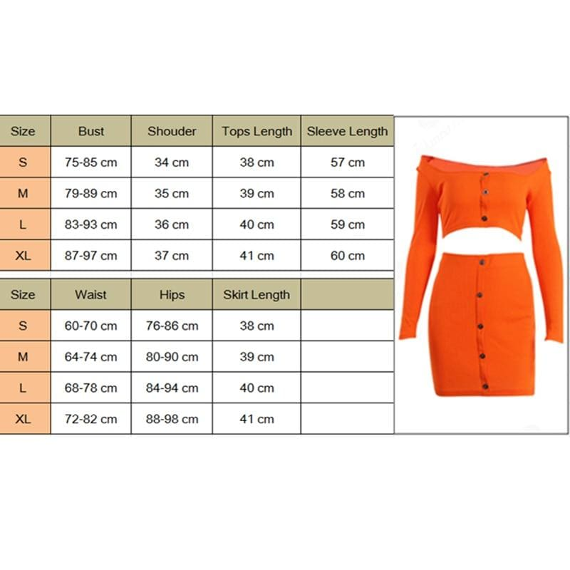 The Best 2pcs Sexy Women Off Shoulder Solid Crop Tops + High Waist Skirt Set Clubwear Ladies Summer Casual Bodycon Suit Online - Hplify