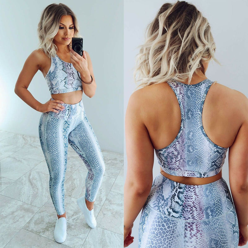 The Best 2pcs Women Outfits Set Running Vest Bra + High Waist Pants Gym Workout Casual Fitness Clothes Tights Sport Wear Tracksuit Online - Hplify