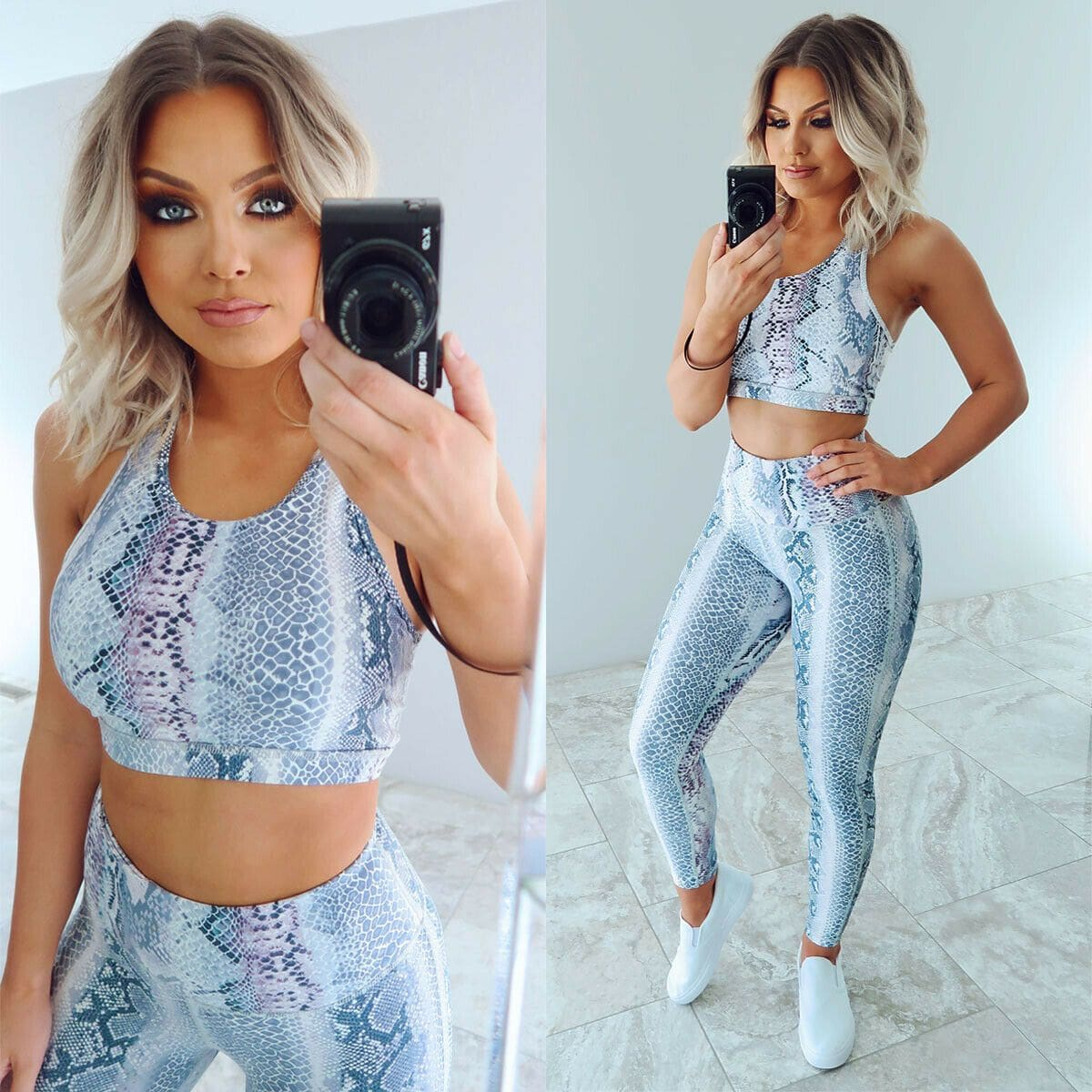 The Best 2pcs Women Outfits Set Running Vest Bra + High Waist Pants Gym Workout Casual Fitness Clothes Tights Sport Wear Tracksuit Online - Source Silk