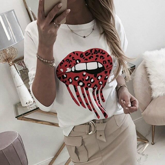Casual Tops and Shirt Long Sleeve Women Shirt Fashion Causl Round Neck Funny Printed Long Sleeve  Women Blouse Women Shirts