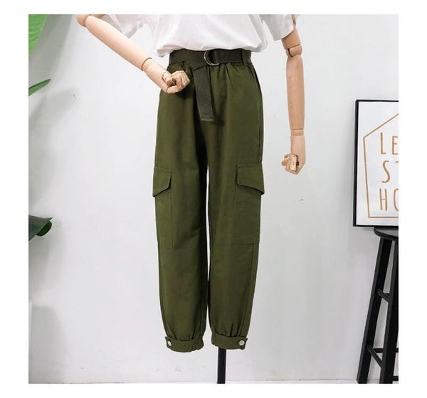 Joggers Chains High Waist Pants For Women Autumn Cargo Harem Streetwear Women's Trousers  Spring Hip Hop Clothes