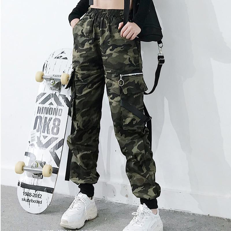 Spring Military Cargo Pants Women Camouflage Streetwear Casual Trousers Men Hip Pop High Waist Sweatpants Harajuku Loose Joggers