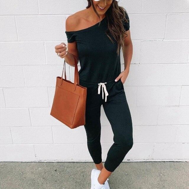 Sexy Off Shoulder Bandage Rompers Womens Clothing Jumpsuit Black Gray Playsuit Summer Short Sleeve One Piece Outfit Streetwear