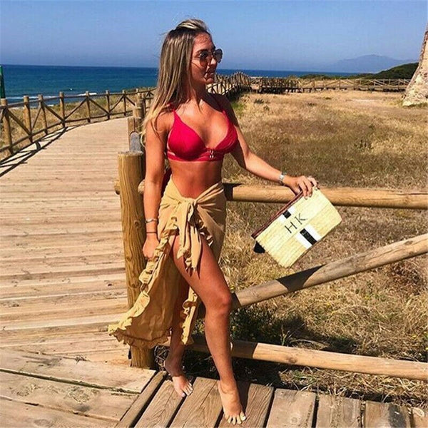 The Best Women Sheer Sarong Beach Cover Up Wrap Summer Ladies Casual Bikini Pareo Swimwear Bathing Skirt 5 Colours Online - Hplify