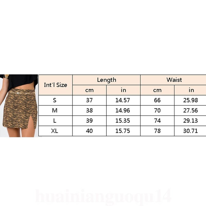 The Best Women Stretch High Waist Short Skirt Ladies Summer Plain Skater Flared Leopard Beach Mini Skirt Sundress Online - Hplify