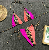 The Best Women Summer Beach Sexy Hot Patchwork Leopard Bikini Set Ladies 2 PCS Holiday Swimwear Pool Swimsuit Brazilian Bathing Suit Online - Source Silk