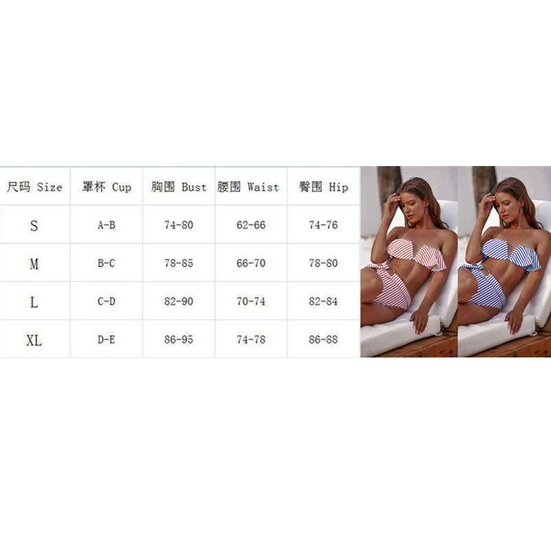 The Best Women Triangle Swimwear Bathing Push-up Padded Bra Bikini Set Swimsuit Beachwear Online - Hplify