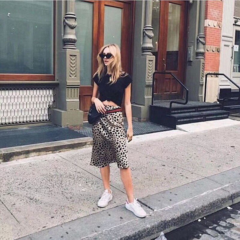 The Best Women Wrap Ruffles A Line High Waist Skirt 2018 Ladies Casual Leopard Printed Short Mini Skirts Slim Leopard Evening Party Skirt Online - Source Silk