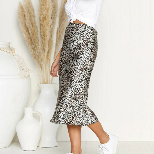 The Best Women's Package Hip Slim Pencil Skirts Stretch High Waist Leopard Print Mini Short Skirt 2019 Elegant Woman Vintage Party Skirts Online - Hplify