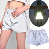The Best Women's Reflective Luminous Hot Shorts Fashion Casual High Waist Wet Look Shiny Shorts Party Dance Clubwear Jogging Trousers Online - Source Silk