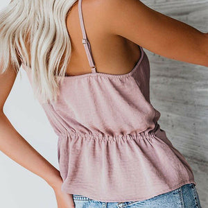 Buy Cheap Women's Summer Slim V-Neck Vest Blouse Ladies Casual Sleeveless Sexy Suspenders Vest Casual Crop Tops Shirt Online - Hplify