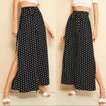 Women's Wide Leg Pants Casual Loose Polka Dot High Waist Long Palazzo Jeans Fashion Beach Lounge Wear Trousers - Hplify