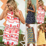 Buy Cheap arrival Women's Summer Beach Sling Sleeveless Long Tops Ladies Holiday Boho Midi Dress Online - Hplify