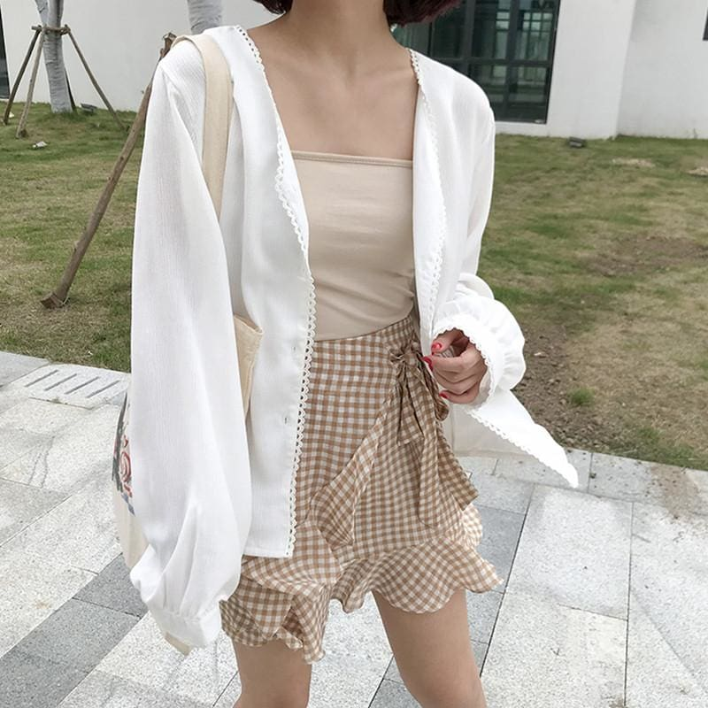 The Best Autumn long sleeve blouses womens sun protection cardigans Online - Source Silk